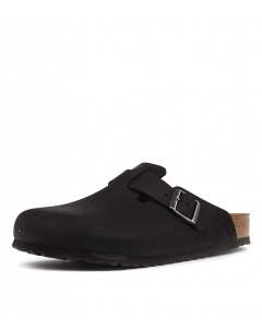 BOSTON MEN'S BLACK OIL LEATHER