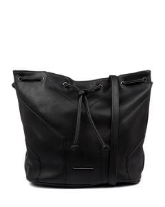 ZOE BUCKET BAG BLACK SMOOTH