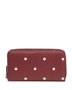KADENCE2 WALLET BURGUNDY DOTS SMOOTH