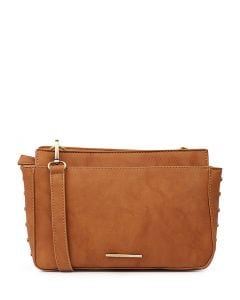 IVY CROSS BODY BAG TAN SMOOTH