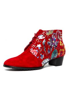 TANKERM RED RED FLORAL SUEDE PRINT SUE
