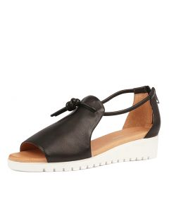MELVIN BLACK WHITE SOLE LEATHER