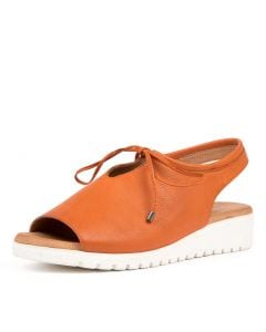 MONIQUE BRIGHT ORANGE WHITE SOLE LEATHER