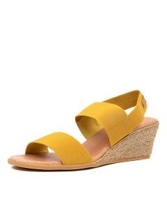 BLOOMY DJ YELLOW TAN ELASTIC LEATHER