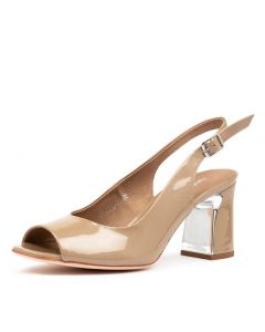 KIANNA DJ TAUPE PEARL PATENT LEATHER