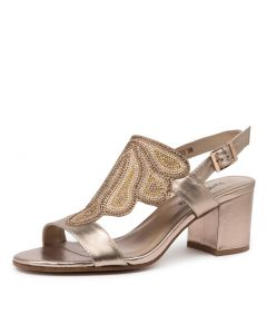 REATHA DJ CHAMPAGNE BRONZE MULTI LEATHER SUEDE