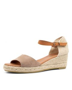 SUZY DJ TAUPE LT TAN SUEDE LEATHER