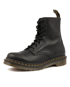 PASCAL 8 EYE BOOT BLACK LEATHER