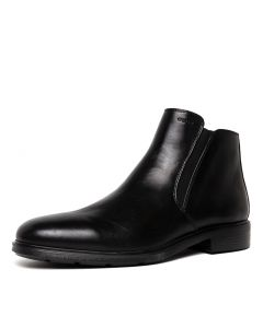 U DUBLIN D BLACK SMOOTH LEATHER