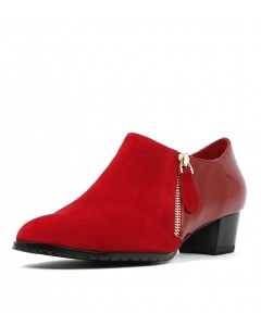 TAMES RED SUEDE PATENT