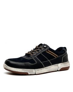 OLIVER-HP NAVY LEATHER SUEDE