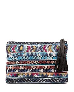 NOLO CLUTCH IL BLACK&BLACK AZT FABRIC