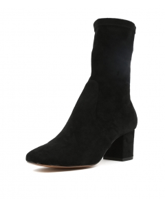 CAREFUL BLACK STRETCH MICROSUEDE