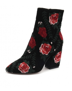 MAMET BLACK RED SUEDE EMBROIDERY
