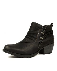 HILARY PL BLACK NUBUCK