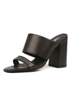 DARCY MULE BLACK LEATHER&STUDS