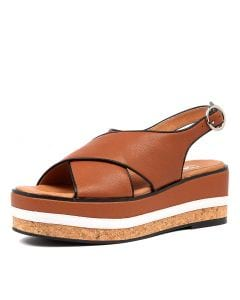 CORY WEDGE SS TAN LEATHER