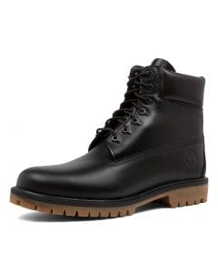 6 INCH HERITAGE  BOOT BLACK LEATHER