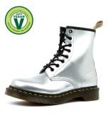 1460 VEGAN 8 EYE BOOT SILVER VEGAN LEATHER