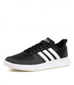 COURT80S BLACK WHITE SMOOTH