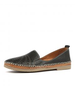 CANNIE BLACK LEATHER