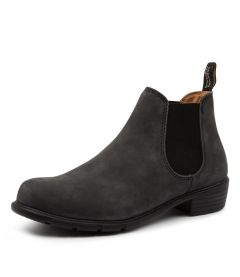 1971 WOMENS BOOT BZ RUSTIC BLACK LEATHER