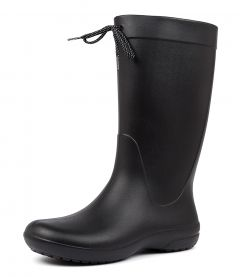 FREESAIL SHORTY RAIN BOOT BLACK CROSLITE