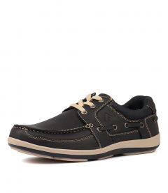 SPINNAKER NAVY LEATHER