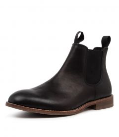 BRUMBY BLACK LEATHER