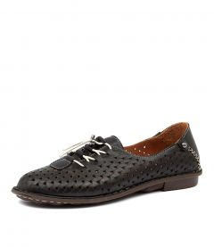 FINLEE CF BLACK LEATHER