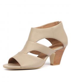 QUANEISHA PALE TAUPE LEATHER