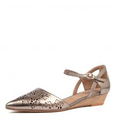 PEONIES DF SOFT GOLD LEATHER