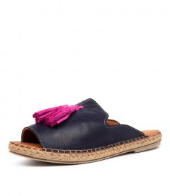 CRYPTIC DF MARINO (NAVY) MAGENTA LEATHER