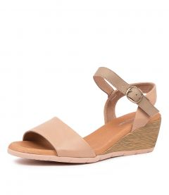 XAIDA DF DK NUDE TAUPE LEATHER