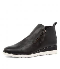 BYCRA BLK-WHT SOL LEATHER