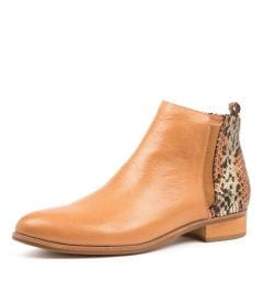 INFLICT DK TAN RUSTIC LEATHER SNAKE