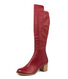 SETLEY RED LEATHER STRETCH SMOOTH