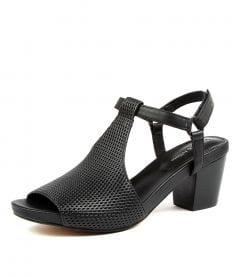 Zettie Black Leather