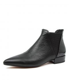 EVELYN DJ BLACK LEATHER PATENT