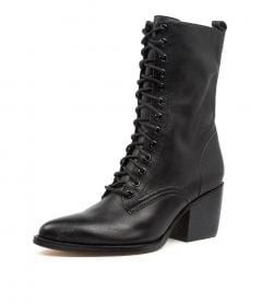 MAJOR DJ BLACK BLACK HEEL LEATHER