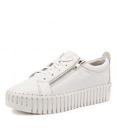 Bump White Leather