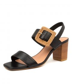 PEACE BLACK-NATURAL HEEL