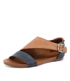 JIMINI NAVY TAN LEATHER