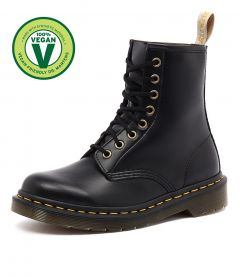 1460 VEGAN 8 EYE BOOT BLACK VEGAN LEATHER
