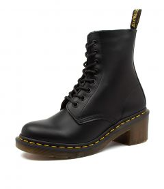 CLEMENCY BLACK LEATHER