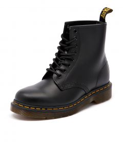 1460 8 EYE BOOT BLACK SMOOTH LEATHER