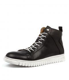 CLARRIE  BLACK LEATHER