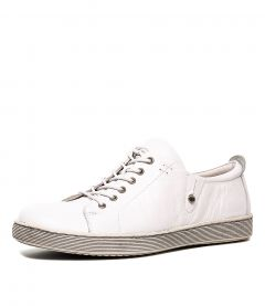 DEMPSEY WHITE LEATHER