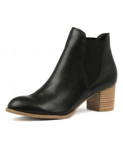 JALISES BLACK NATURAL HEEL SMOOTH