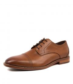 BANDED DARK TAN LEATHER